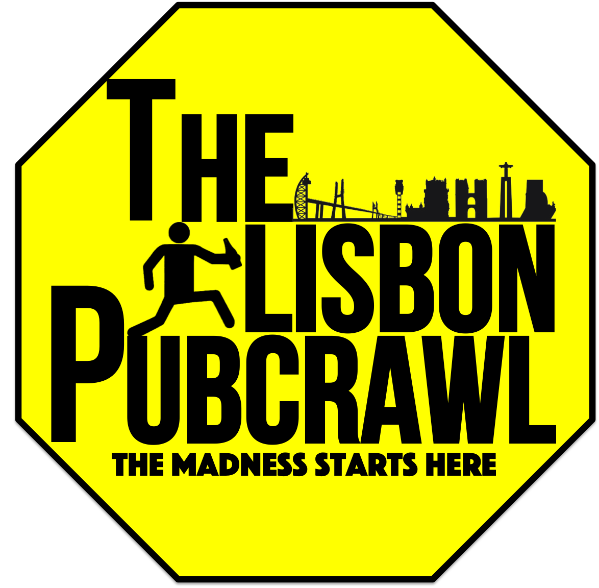 The Lisbon Pubcrawl Logo - The Madness Start Here